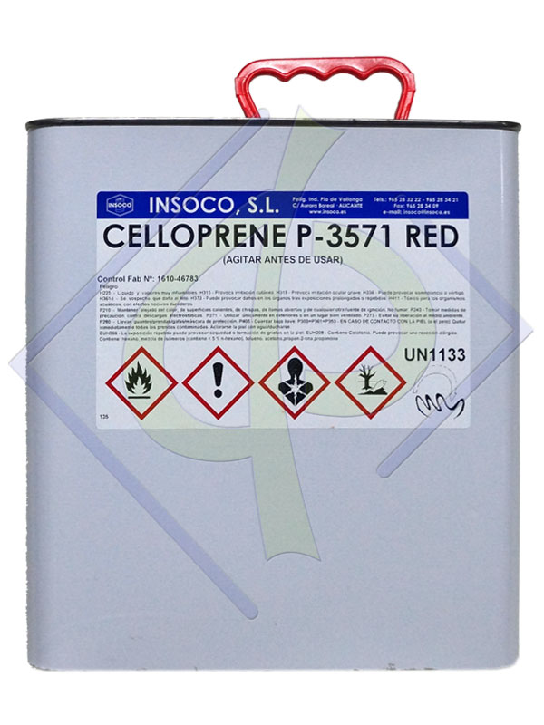 Лепило Celloprene P-3571 RED, туба 5 литра